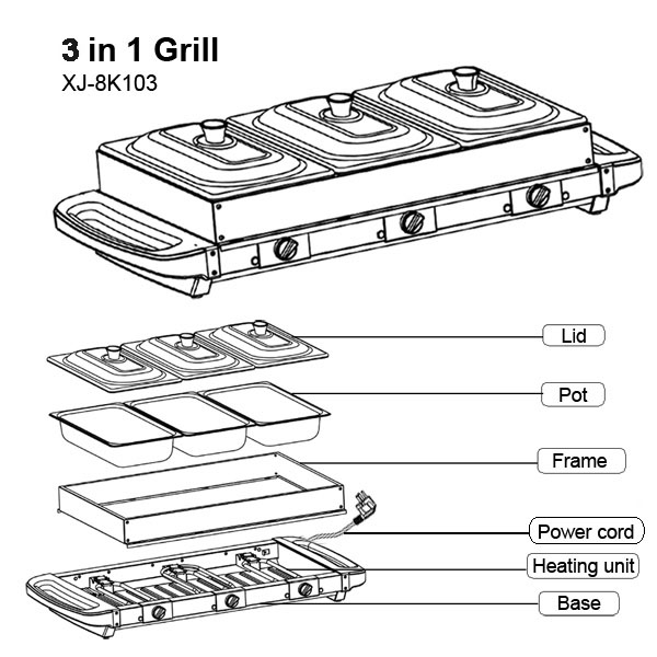 home 3 in 1 grill